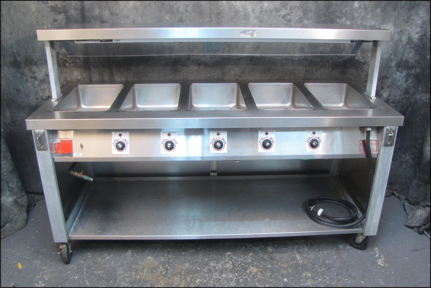 5 compartment electric steam table w sneeze guard x servolift ebay - Sneeze guard for steam table ...