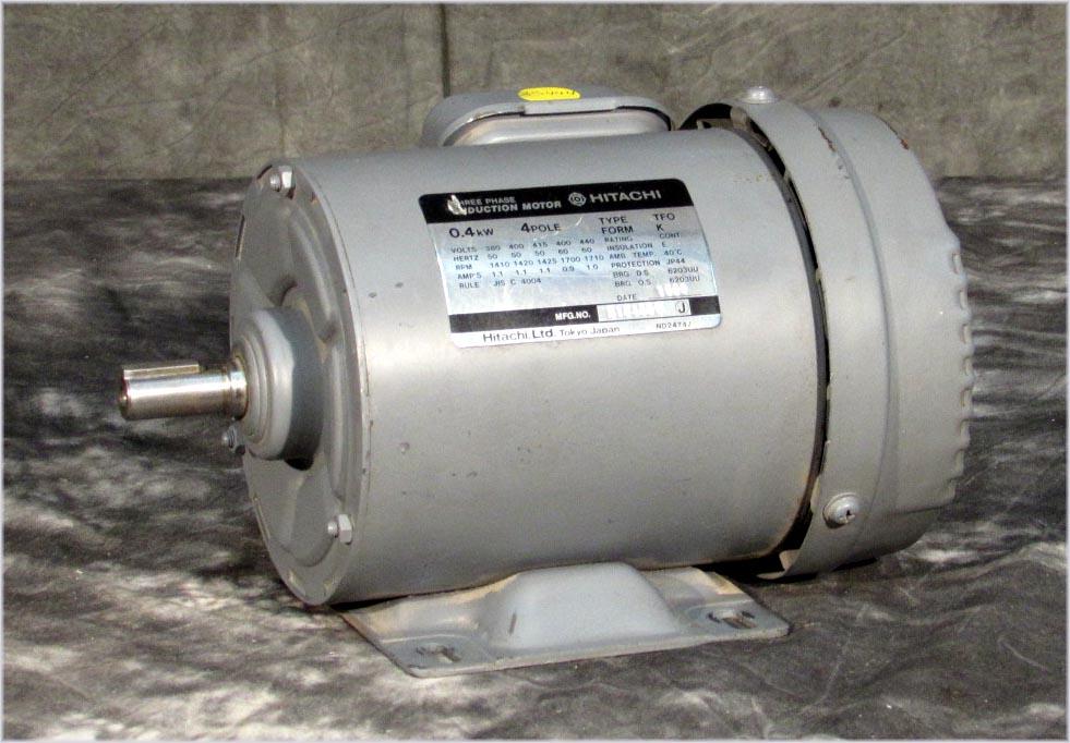 Hitachi 3 phase induction motor type tfo form k 0 for 3 phase 4 pole ac induction motor